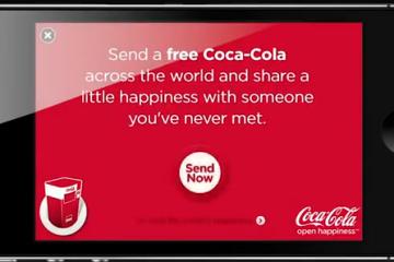קוקה קולה מחלקת פחית משקה חינם בכל העולם